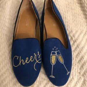 Jcrew Blue Champagne loafers